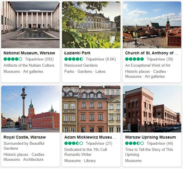 Warsaw Attractions