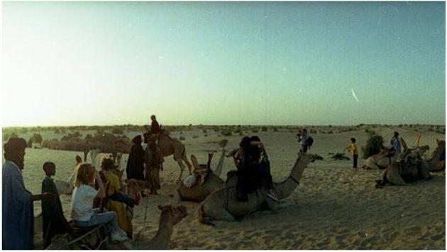 Camel tour near Timbuktu