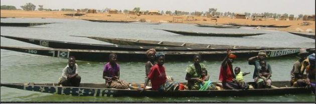 Dugout canoe on the Niger