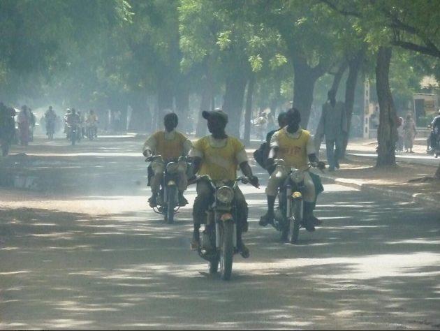 Exhaust-laden avenue in Maroua