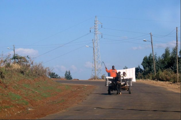 Horse-drawn carriage on the outskirts of Addis Ababa