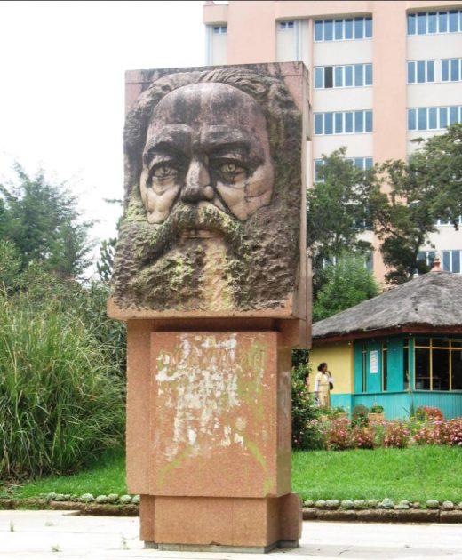Karl Marx statue near the University of Addis Ababa