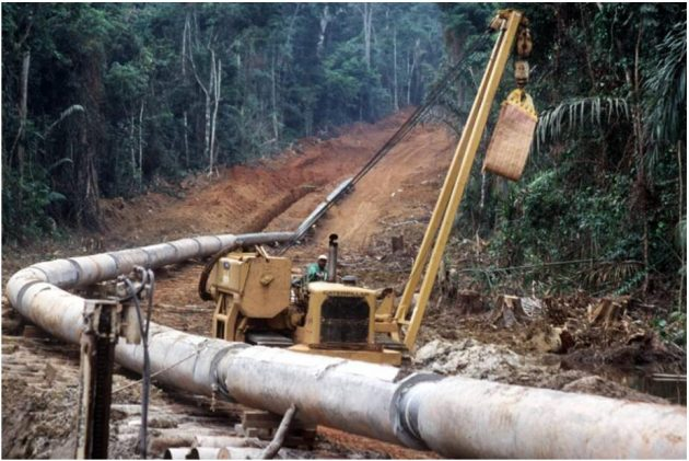 Laying of the Doba-Kribi pipeline