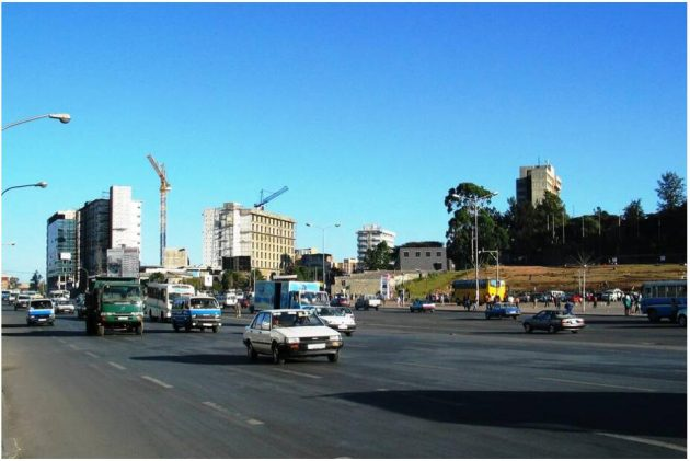 Military parades took place in Meskel Square in the center of Addis Ababa during the Dergue regime