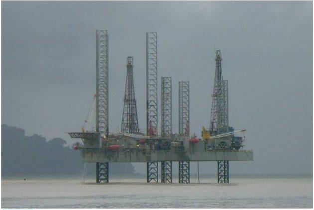 Oil rig off Limbé