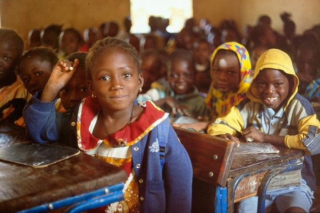 Pupils at a primary school in Sikasso
