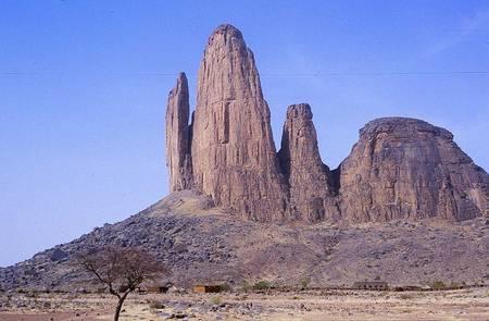 The island mountain formation Main de Fatima near Hombori in central Mali