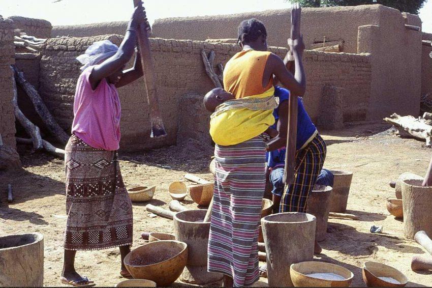 Women in a village in central Mali