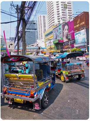 Traffic is perhaps the biggest danger and problem in Bangkok