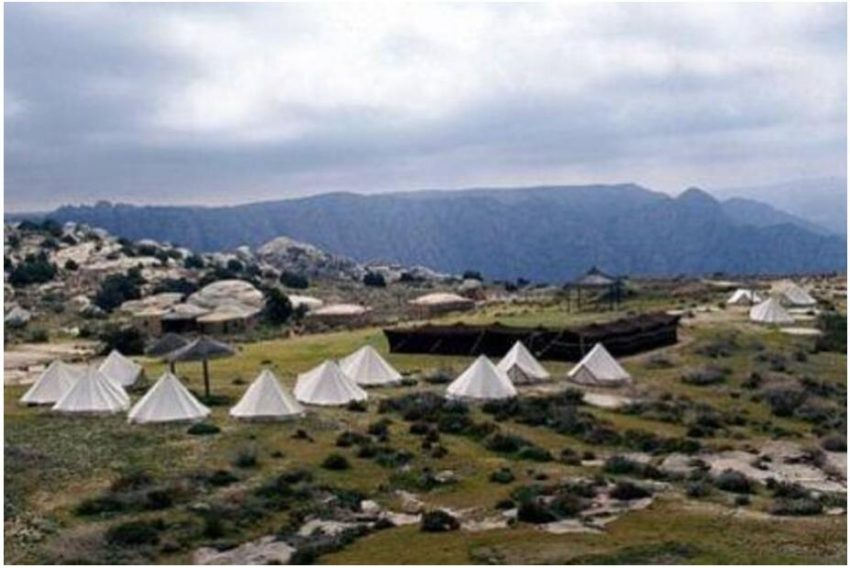 Campsite of the Royal Society for Nature Conservation in the Dana Nature Reserve