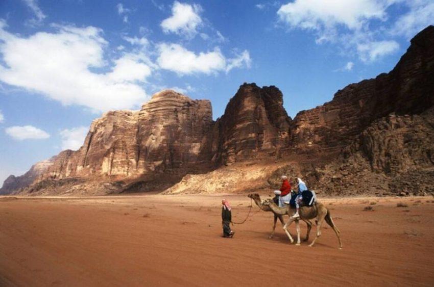 Wadi Rum - desert landscape in South Jordan