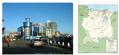Cities and Places in Suriname