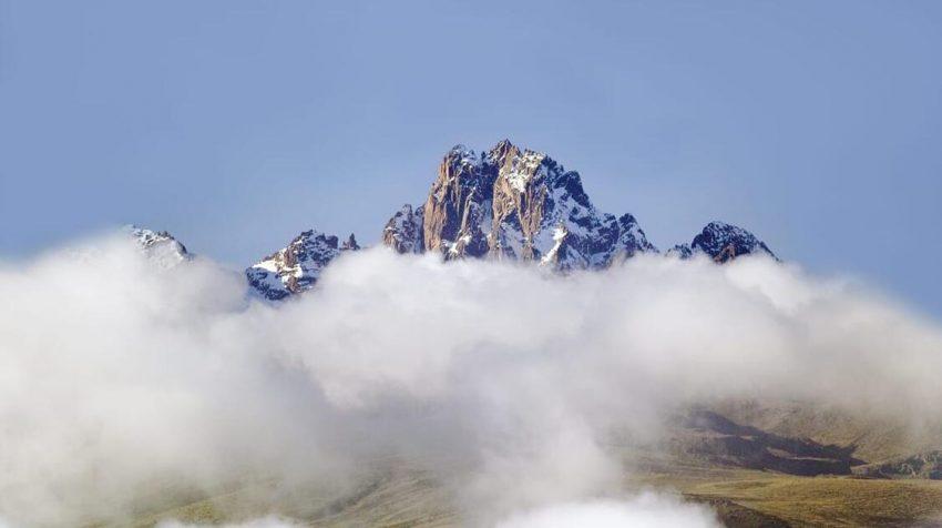 Trekking on Mount Kenya